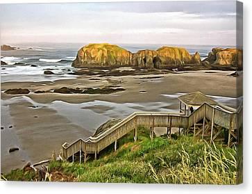Bandon Beach Stairway Canvas Print