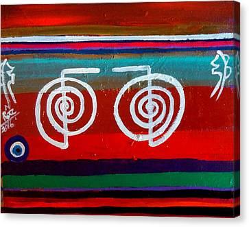 Bands Of Healing Two Cho Ku Rei's Canvas Print by Rizwana Mundewadi