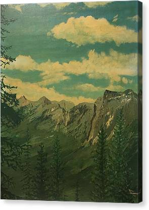Canvas Print featuring the painting Banff by Terry Frederick