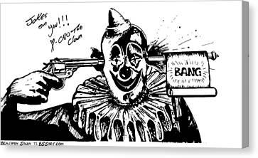 Bang Capo The Clown Canvas Print by Ben Sawin