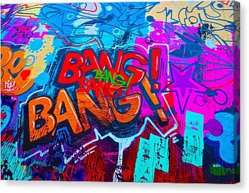 Bang Graffiti Nyc 2014 Canvas Print