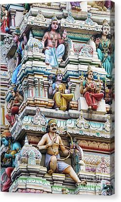 Bangalore Hindu Temple Gopuram  Canvas Print