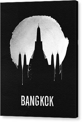 Bangkok Landmark Black Canvas Print by Naxart Studio