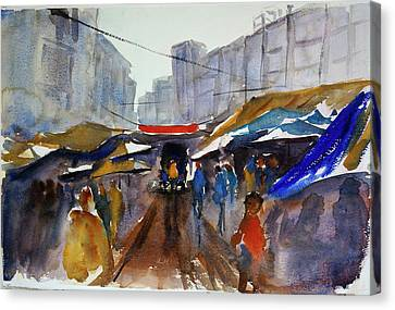 Bangkok Street Market Canvas Print by Tom Simmons