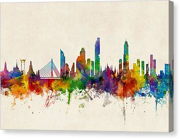 Bangkok Thailand Skyline Canvas Print by Michael Tompsett