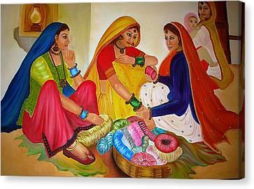 Bangle Seller Canvas Print by Xafira Mendonsa