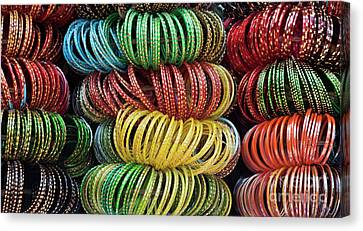 Bangles Of India Canvas Print by Tim Gainey