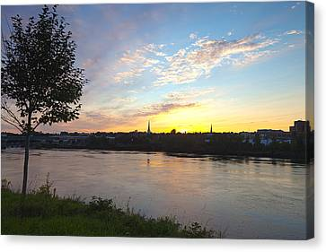 Bangor Sunset Canvas Print by Melinda Fawver