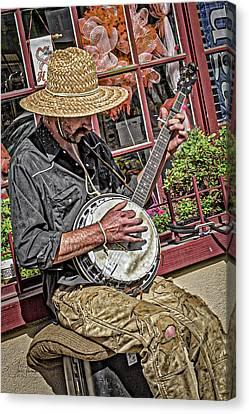 Banjo Man Orange Canvas Print by Jim Thompson