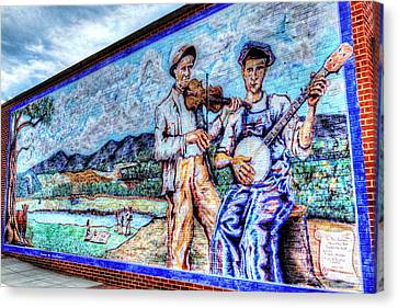 Banjo Mural Canvas Print by Dale R Carlson