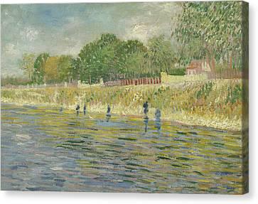 Dutch Landscapes Canvas Print - Bank Of The Seine by Vincent van Gogh