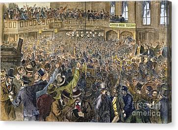 Bank Panic: 1869 Canvas Print by Granger