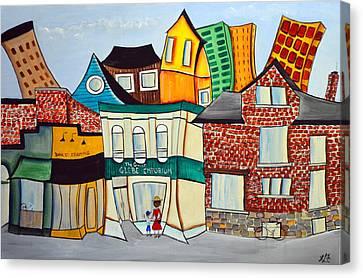 Bank Street West Canvas Print by Heather Lovat-Fraser