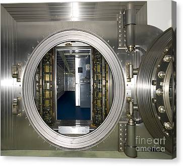 Bank Vault Interior Canvas Print by Adam Crowley