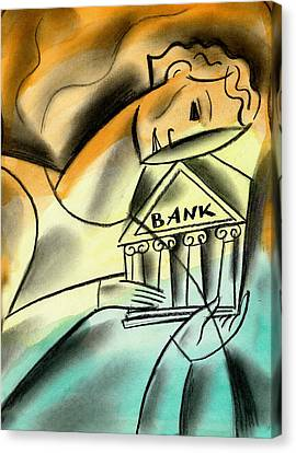 Enterprise Canvas Print - Banking by Leon Zernitsky