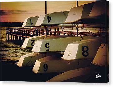 Canvas Print featuring the photograph Banks Channel Boat Stack by Phil Mancuso