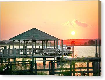 Canvas Print featuring the photograph Banks Channel Sunset by Phil Mancuso