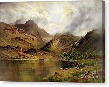 Banks Of Arrochar Canvas Print by Alfred de Breanski