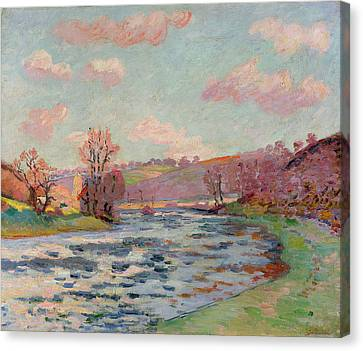 Banks Of The Creuse Canvas Print by Jean Baptiste Armand Guillaumin