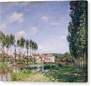 Banks Of The Loing Canvas Print