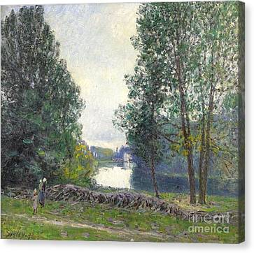 Banks Of The Loing Canvas Print by MotionAge Designs
