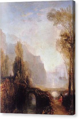Banks Of The Loire Canvas Print by Joseph William Mallord Turner