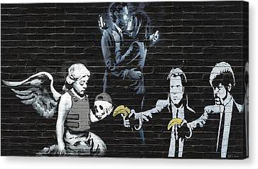 Banksy - The Tribute - Failure To Communicate Canvas Print by Serge Averbukh