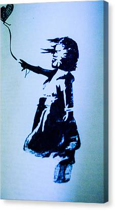 Banksy's Girl Canvas Print by Margo Kurtzke