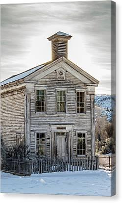 Bannack Schoolhouse And Masonic Temple Canvas Print by Teresa Wilson