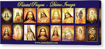 Banner Painted Prayers Canvas Print by Ananda Vdovic