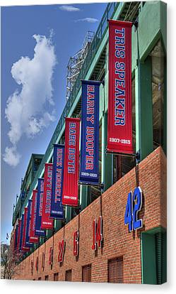 Banners Of Glory - Fenway Park - Boston Canvas Print by Joann Vitali