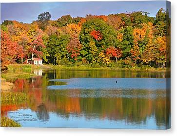 Litchfield County Canvas Print - Bantam Connecticut by Diana Angstadt