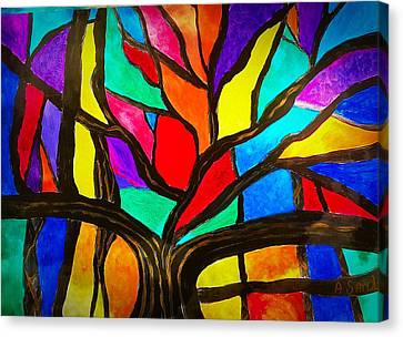 Banyan Tree Abstract Canvas Print
