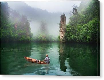 Canvas Print featuring the photograph Baofeng by Wade Aiken