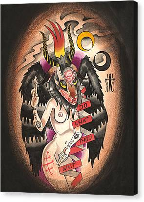 Baphomet Canvas Print by Kate Collins