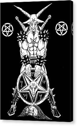 Horror Fantasy Movies Canvas Print - Baphomet's Shield by Alaric Barca