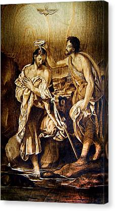 Baptism Of Christ Canvas Print by Dino Muradian