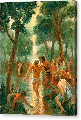 Baptism Of Christ Canvas Print by Paul Rhoads
