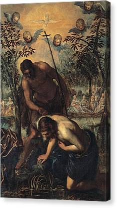 Baptism Of Christ Canvas Print by Tintoretto