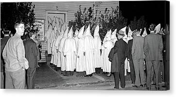 Baptist Church And Kkk Unknown Date Or Location. Canvas Print