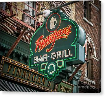 Bar And Grill Canvas Print by Perry Webster