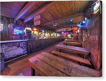 Bar At The Dixie Chicken Canvas Print by David Morefield