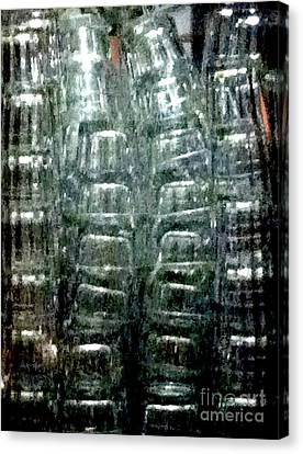 Bar Glasses 13xc Canvas Print by Ken Lerner