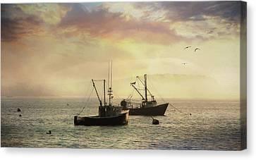 Bar Harbor Lobster Boats Canvas Print by Lori Deiter