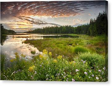 Canvas Print featuring the photograph Bar Harbor Maine Sunset One by Kevin Blackburn