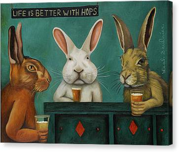 Bar Hopping Canvas Print