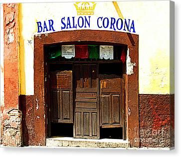 Bar Salon Corona Canvas Print by Mexicolors Art Photography