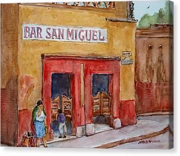 Bar San Miguel 2 Canvas Print by Jerald Peterson