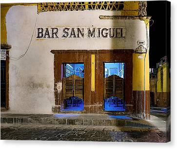 Bar San Miguel Canvas Print by Whitman White