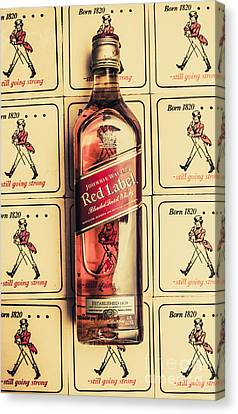 Blend Canvas Print - Bar Wall Art. Old Johnnie Walker Red Label by Jorgo Photography - Wall Art Gallery